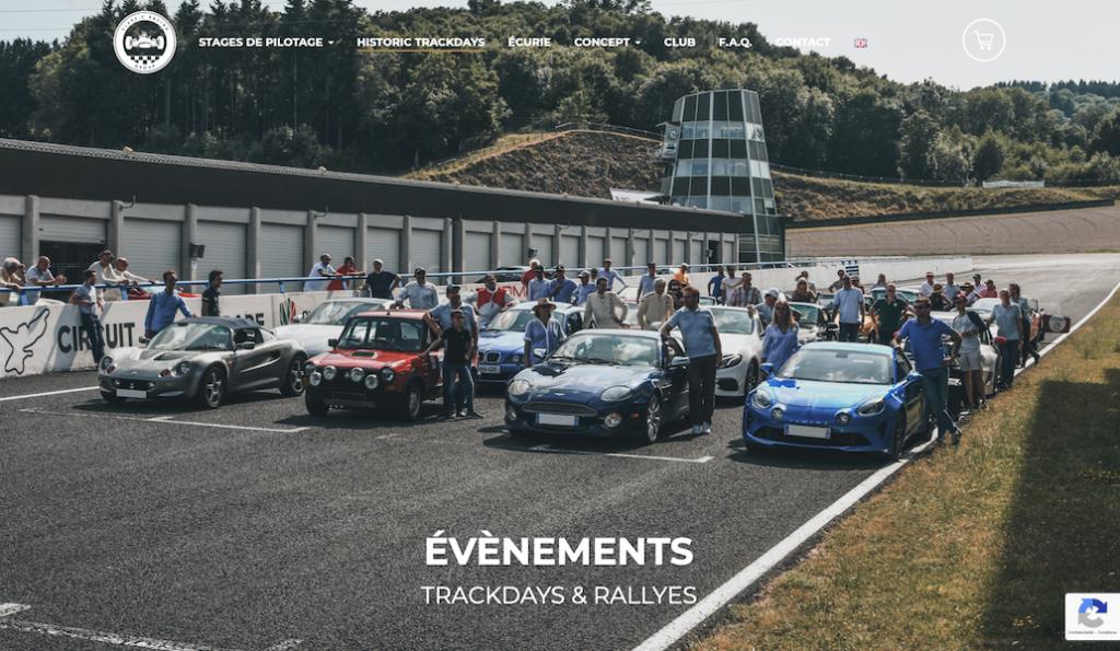 Classic Racing School : site internet.