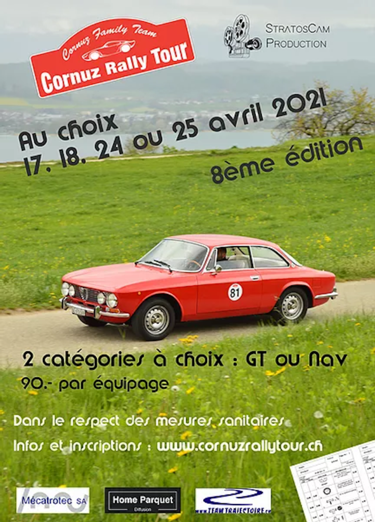 Affiche Cornuz Rallye Tour Suisse avril 2021