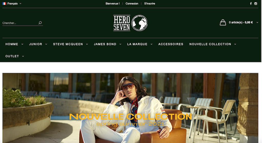 Site internet Hero Seven