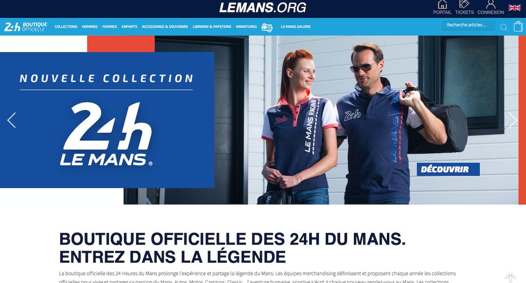 Boutique officielle : les 24H du Mans.