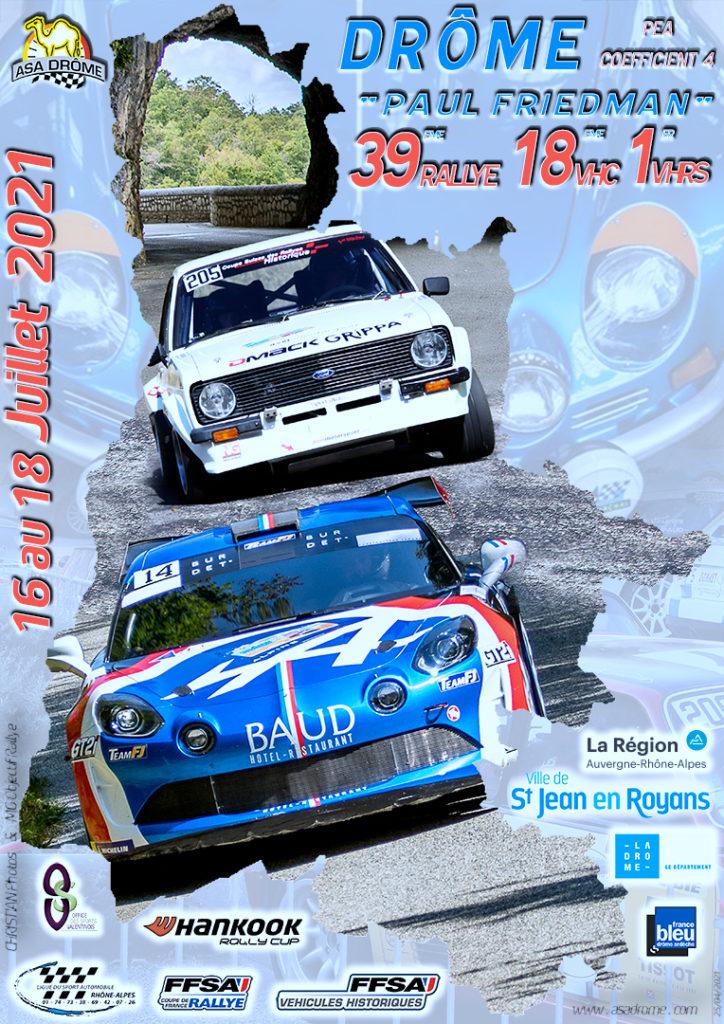 L'affiche du 39e Rallye de la Drôme Paul Friedman