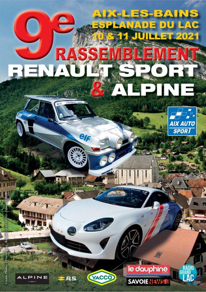L'affiche du 9e Rassemblement Renault Sport & Alpine