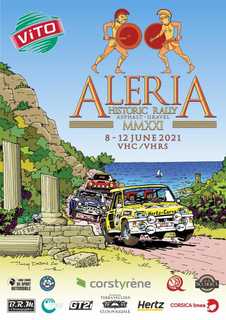 L'affiche officielle de l'Aleria Historic Rally 2021