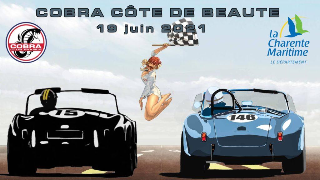 L'affiche du Rassemblement Cobra Côte de Beauté 2021